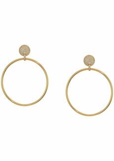 Michael Kors Precious Metal-Plated Sterling Silver Hoops Earrings