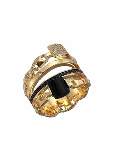 Michael Kors Precious Metal-Plated Sterling Silver Mercer Link Stacked Ring