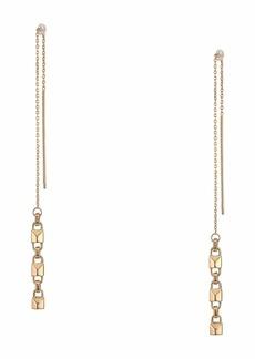 Michael Kors Precious Metal-Plated Sterling Silver Mercer Link Threader Earrings