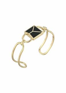 Michael Kors Precious Metal-Plated Sterling Silver Mercer Lock Cuff Bracelet