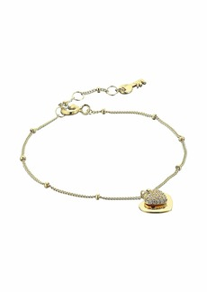 Michael Kors Precious Metal-Plated Sterling Silver Pavé Heart Bracelet