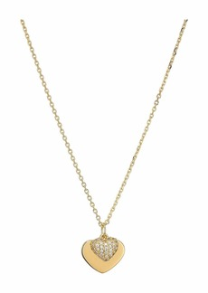 Michael Kors Precious Metal-Plated Sterling Silver Pavé Heart Necklace