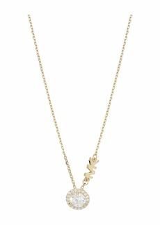 Michael Kors Precious Metal-Plated Sterling Silver Pavé Round CZ Charm Necklace