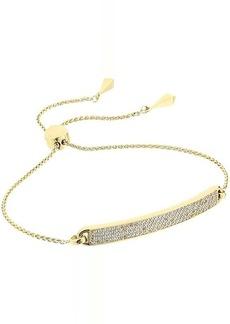 Michael Kors Precious Metal-Plated Sterling Silver Pave Slider Bracelet