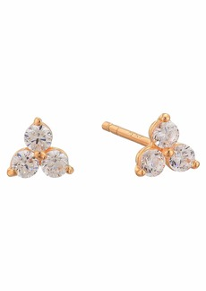 Michael Kors Precious Metal-Plated Sterling Silver Triad Studs Earrings