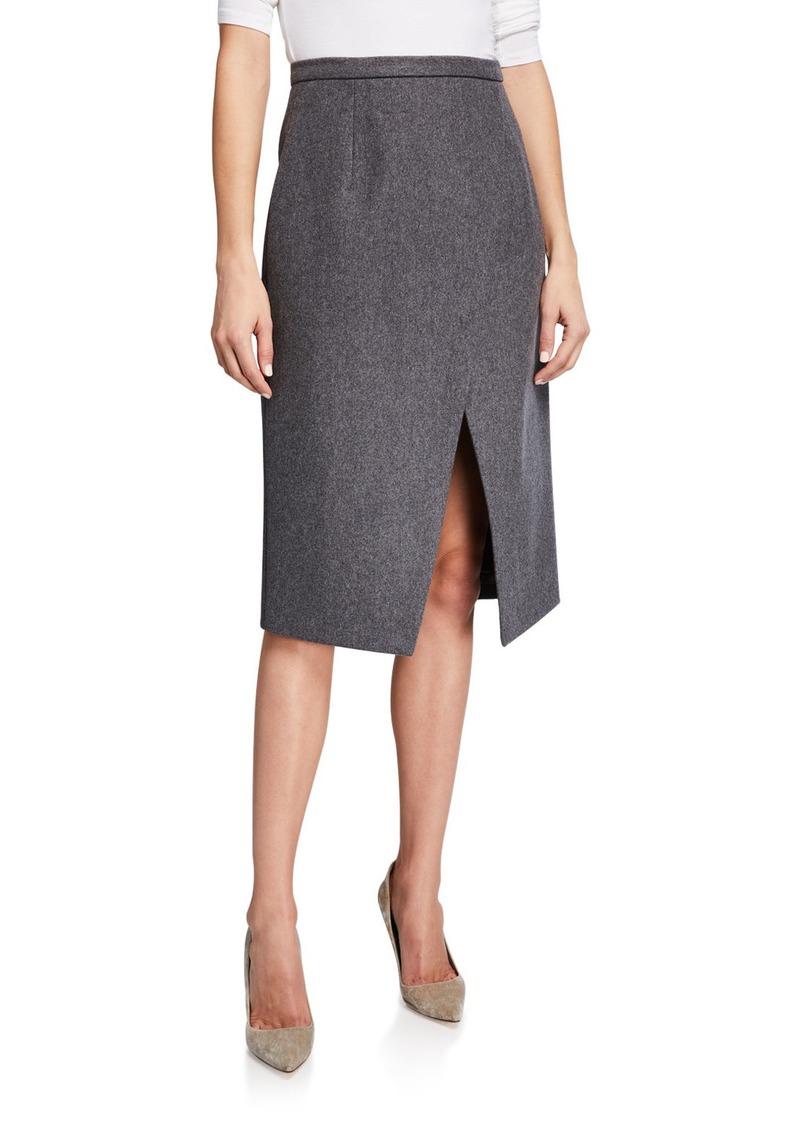 Michael Kors Pressed Wool Scissor Skirt