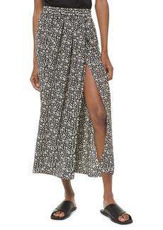 Michael Kors Printed Silk Scissor Skirt
