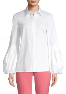 Michael Kors Puff Sleeve Button-Down Shirt