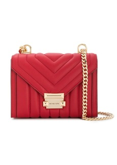 Michael Kors quilted chevron cross body bag