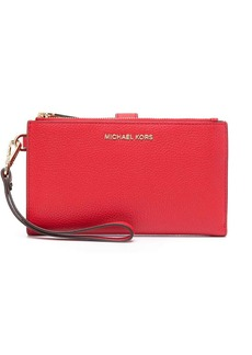 Michael Kors red leather purse with detachable wrist strap
