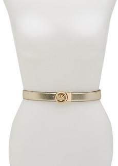 MICHAEL Michael Kors Reversible Logo Plaque Belt