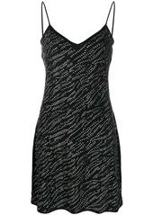 Michael Kors rhinestone detail slip dress