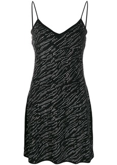 Michael Kors rhinestone detail slip dress