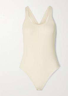 Michael Kors Ribbed-knit Thong Bodysuit