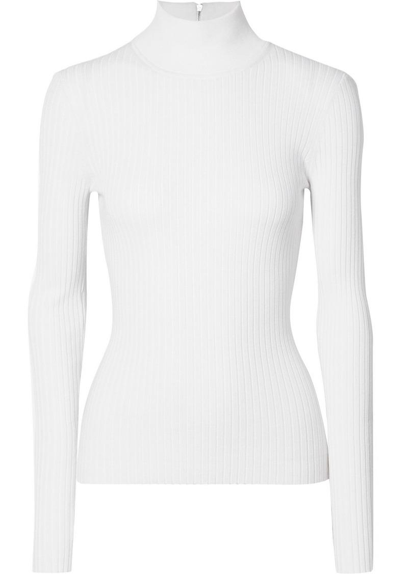 Michael Kors Ribbed Stretch-knit Turtleneck Sweater