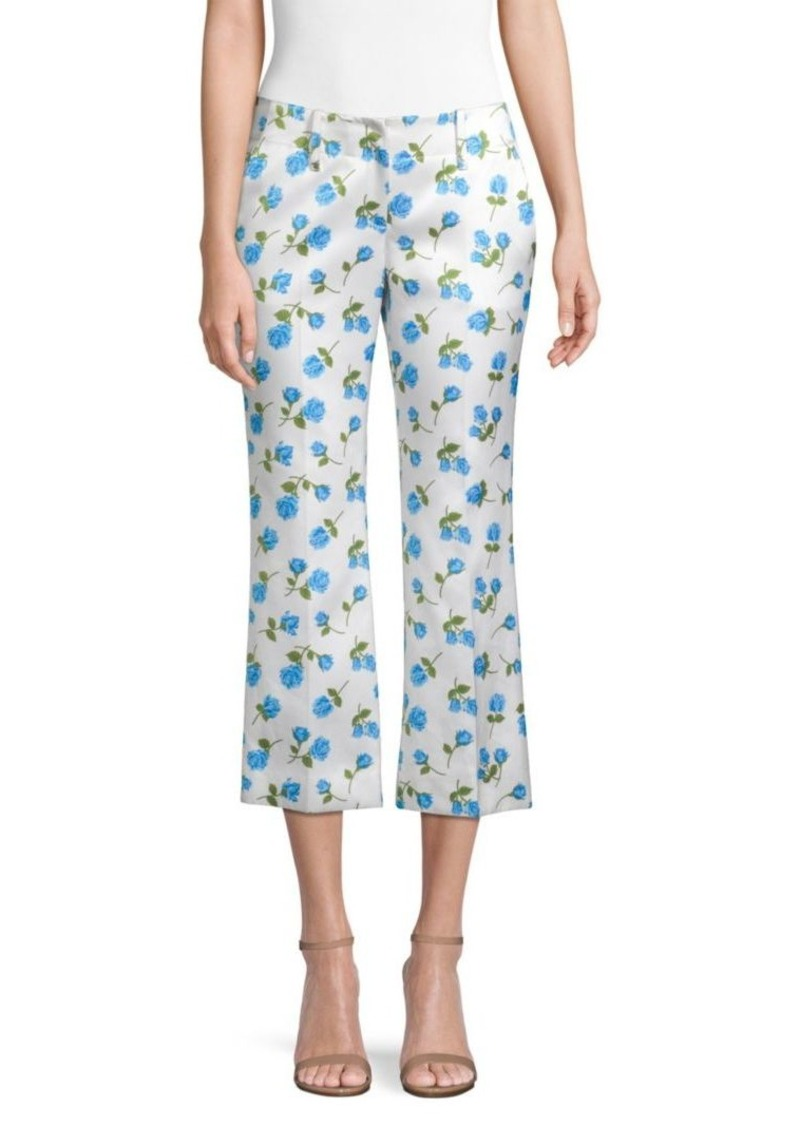 Michael Kors Rose Print Cropped Pants