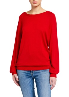 Michael Kors Round-Neck Long-Sleeve Merino/Cashmere Pullover