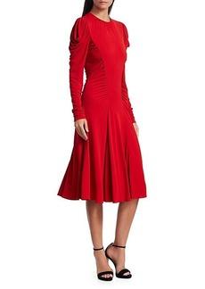 Michael Kors Ruched Midi Dress