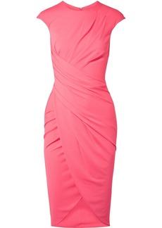 Michael Kors Ruched Stretch-crepe Dress