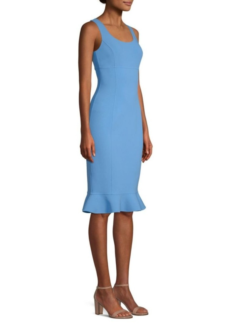 Michael Kors Ruffle-Hem Sheath Dress