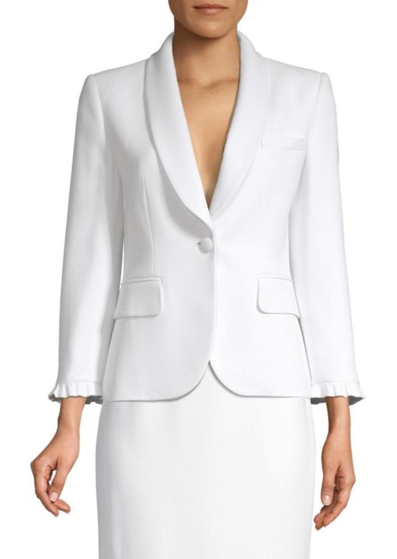 Michael Kors Ruffle One Button Jacket