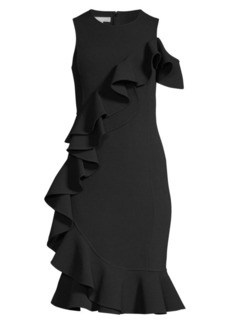 Michael Kors Ruffle Sheath Dress
