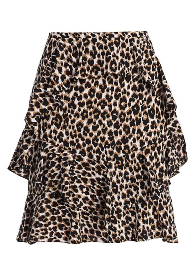 Michael Kors Ruffle Silk Skirt