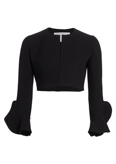 Michael Kors Ruffle Sleeve Cardi Cropped Jacket