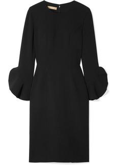 Michael Kors Ruffle-trimmed Wool-blend Crepe Dress