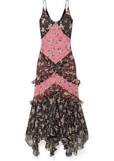 Michael Kors Ruffled Floral-print Silk-chiffon Maxi Dress