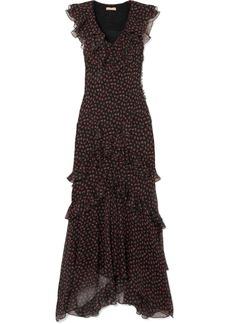 Michael Kors Ruffled Floral-print Silk-georgette Gown
