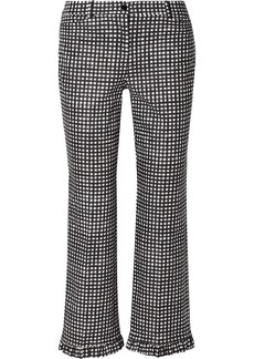 Michael Kors Ruffled Gingham Cotton-poplin Straight-leg Pants