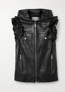 Michael Kors Ruffled Leather Vest
