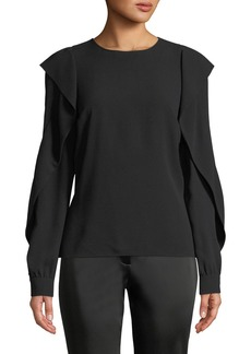 Michael Kors Ruffled-Long-Sleeve Blouse