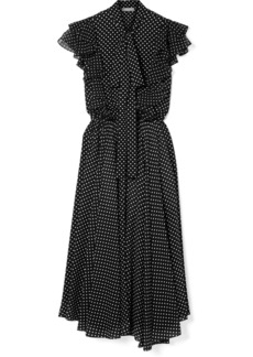 Michael Kors Ruffled Polka-dot Silk-georgette Midi Dress