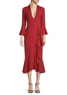 Michael Kors Rumba Printed Silk Wrap Dress
