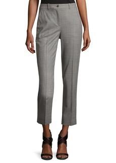 Michael Kors Sam Cropped Stretch-Wool Pants  Gray