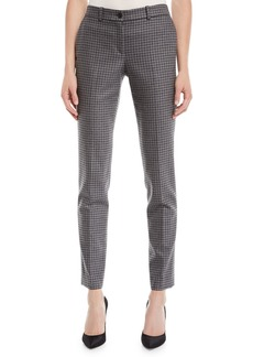 Michael Kors Samantha Small Houndstooth Stretch-Flannel Pants