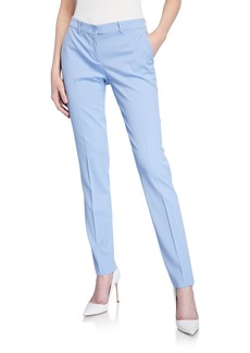 Michael Kors Samantha Wool-Blend Skinny Pants  Blue