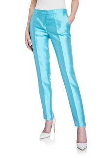 Michael Kors Samantha Wool-Blend Skinny Pants  Light Blue