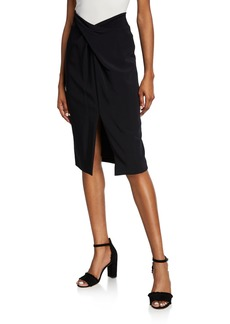 Michael Kors Sarong Twisted Pencil Skirt