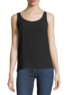Michael Kors Scoop-Neck Silk Georgette Tank