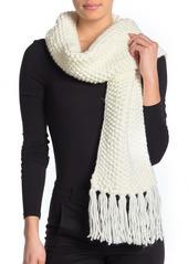 MICHAEL Michael Kors Seed Stitch Knit Fringe Wrap Scarf
