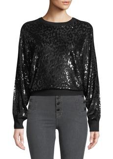 Michael Kors Sequined Leopard Sweatshirt
