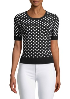 Michael Kors Sequined Short-Sleeve Sweater
