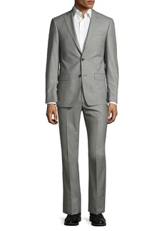 Michael Kors Sharkskin Two-Button Wool Two-Piece Suit