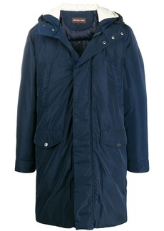 Michael Kors shearling hood parka coat
