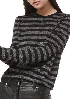 Michael Kors Shimmer-Striped Long-Sleeve Shirt