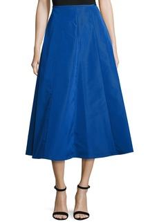Michael Kors Shirred-Back Flare Midi Skirt