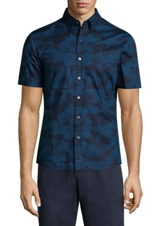 Michael Kors Short-Sleeve Camo-Print Shirt